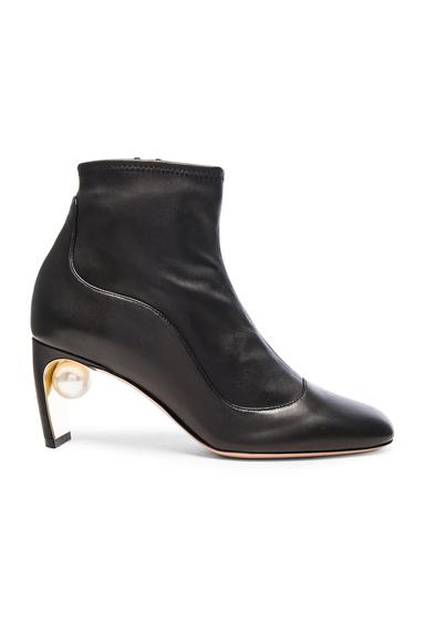 Nicholas Kirkwood Leather Maeva Pearl Booties in Black