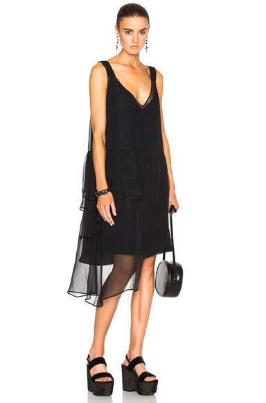 No. 21 Asymmetrical Dress in Black