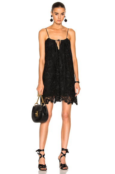 No 21 Lace Mini Dress in Black