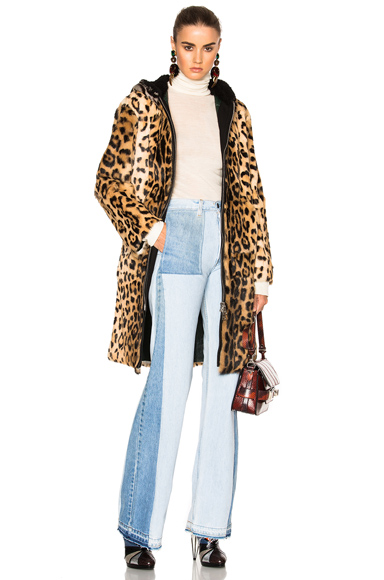 Photo of No 21 Fur Coat in Neutrals, Animal Print online womens jacket sales