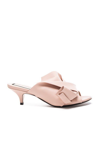 No 21 Bow Kitten Heel Mule in Neutrals