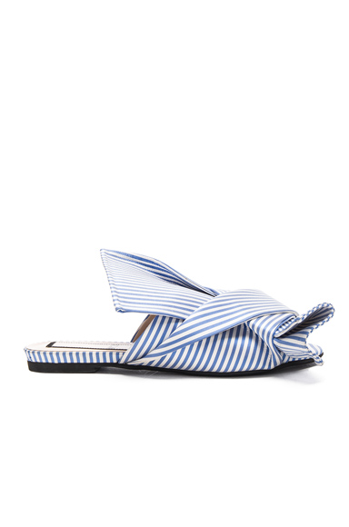 No 21 Bow Flat in Blue, Stripes