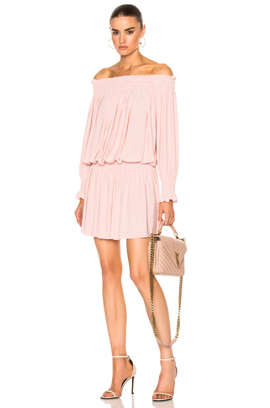 Norma Kamali Peasant Dress in Pink