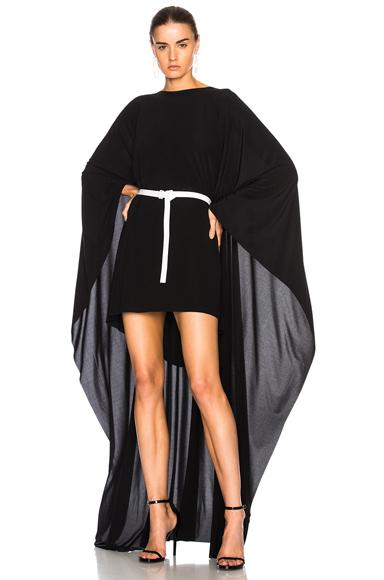 Norma Kamali Poncho Dress in Black