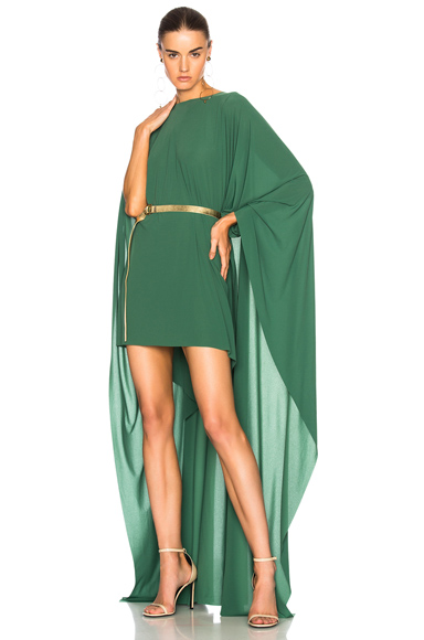 Norma Kamali Poncho Dress in Green
