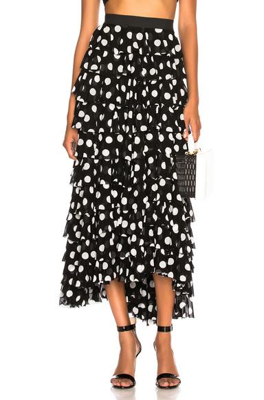 NORMA KAMALI | Norma Kamali Ruffle Skirt In Black. - Size L (Also In ) | Goxip