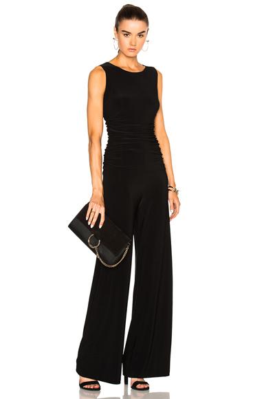 Norma Kamali Shirred Waist Jumpsuit in Black