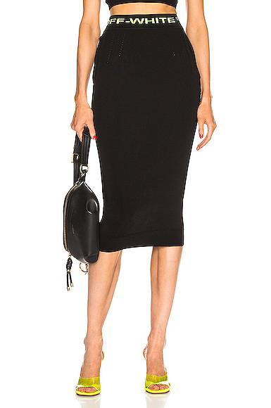 OFF-WHITE   OFF-WHITE Knit Long Skirt In Black. - Size 42 (Also In 36,38)   Goxip