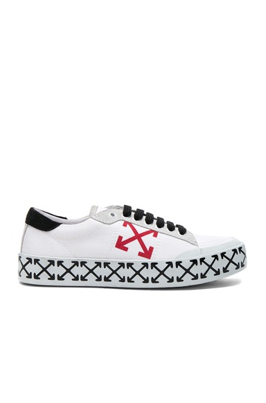 OFF-WHITE Vulcanized Arrow Sneakers in White