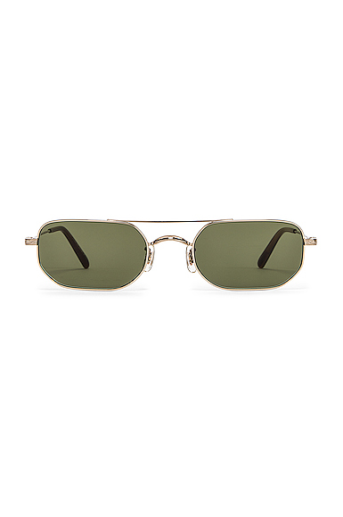 OLIVER PEOPLES | Oliver Peoples Indio Sunglasses In Gray,Metallic. | Goxip
