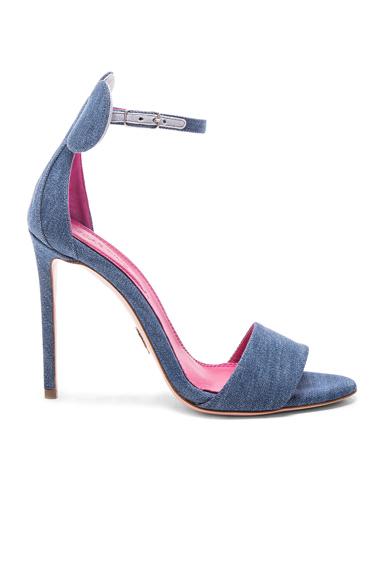Oscar Tiye Denim Minnie Sandals in Blue