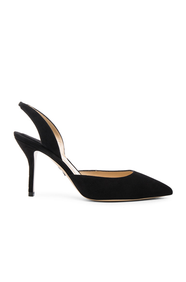 Paul Andrew Aw Suede Heels in Black