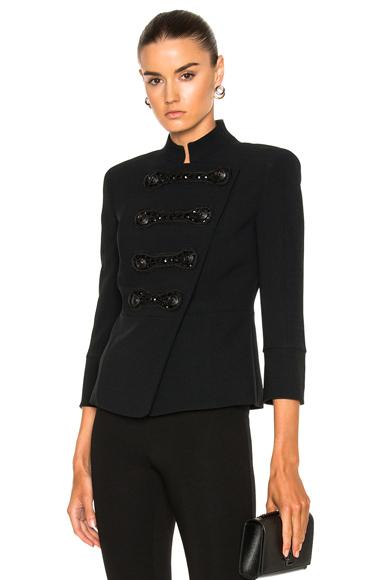 Pierre Balmain Military Jacket in Black