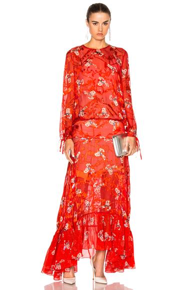 Preen by Thornton Bregazzi Bochert Dress in Red, Floral
