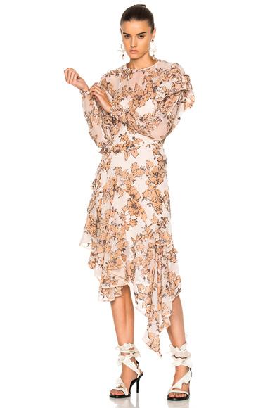Preen by Thornton Bregazzi Dyani Dress in Abstract, Neutrals