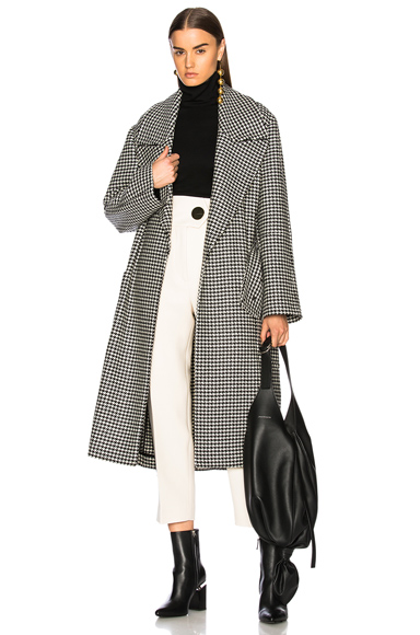 Petar Petrov Alex Coat in Black, Checkered & Plaid