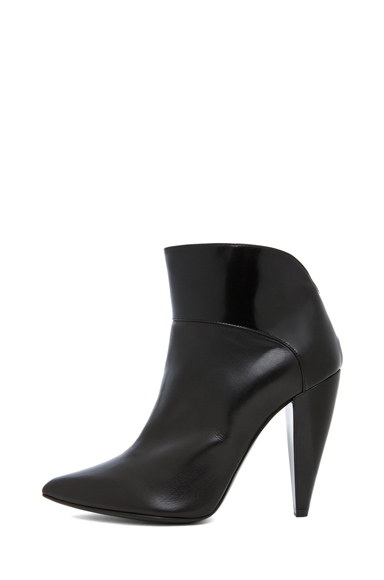 PIERRE HARDY | Shiny & Satin Calf Bootie in Black