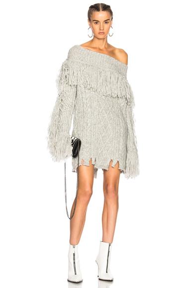 Philosophy di Lorenzo Serafini Sweater Dress in Gray