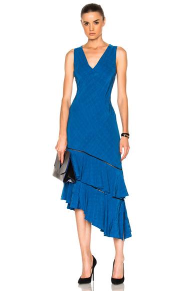 Prabal Gurung Asymmetrical Dress in Blue
