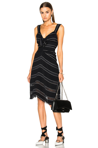 Photo of Proenza Schouler Pin Stripe Crepe Cami Dress in Black, Stripes online womens dresses sales