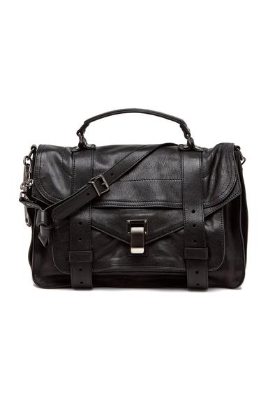 PROENZA SCHOULER | Medium PS1 Leather in Black
