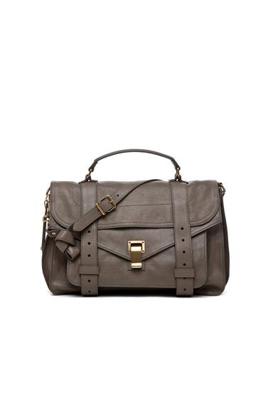 Proenza Schouler Medium PS1 Leather in Gray.