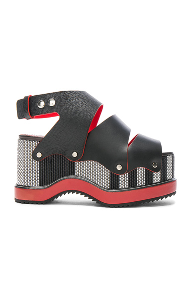 Proenza Schouler Leather Sandals in Black