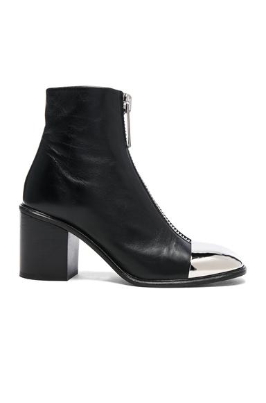 Proenza Schouler Metal Cap Toe Zip Front Boots in Black
