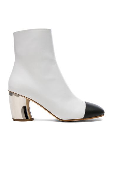Proenza Schouler Silver Heel Boots in White
