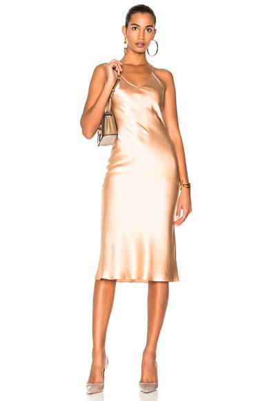 Protagonist Classic Slip Dress in Neutrals, Pink