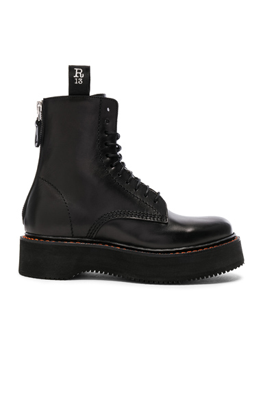 R13 Leather Boots in Black
