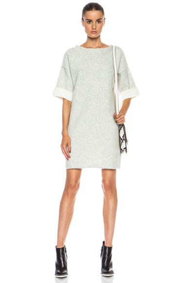 RAG & BONE | Juliana Wool-Blend Dress in Light Grey Melange