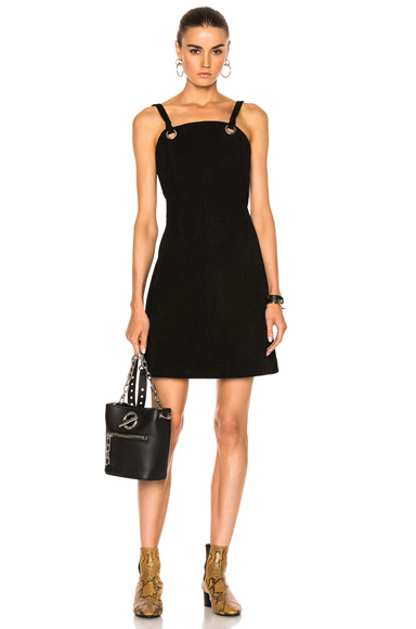 Rag & Bone Croft Suede Dress in Black