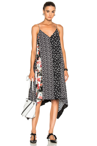 Rag & Bone Londar Dress in Black, Floral, Pink, White