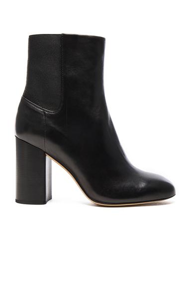 Rag & Bone Leather Agnes Booties in Black