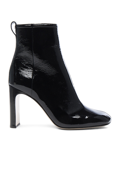 Rag & Bone Patent Leather Ellis Boot in Black