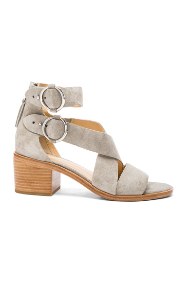 Rag & Bone Suede Mari Sandals in Gray