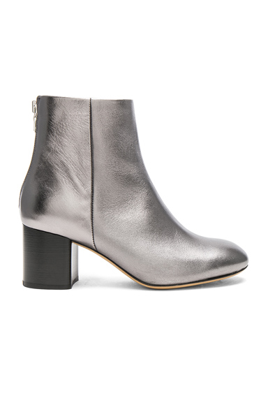 Rag & Bone Leather Drea Booties in Metallics