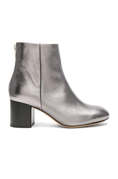 Photo of Rag & Bone Leather Drea Booties in Metallics online womens shoes sales