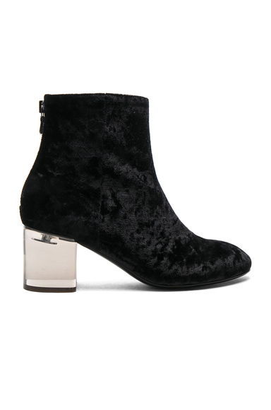 Rag & Bone Velvet Drea Boots in Black
