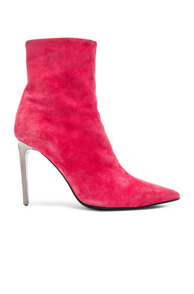 Rag & Bone Suede Wes Boots in Red