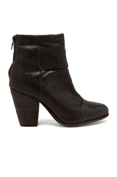 Rag & Bone Classic Newbury Leather Boots in Black