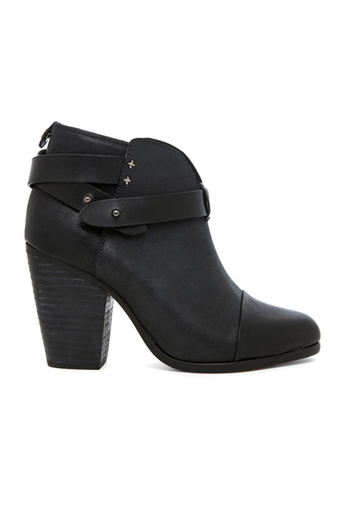 Rag & Bone Harrow Leather Boots in Black