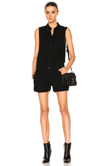 rag & bone/JEAN Dumont Romper in Black