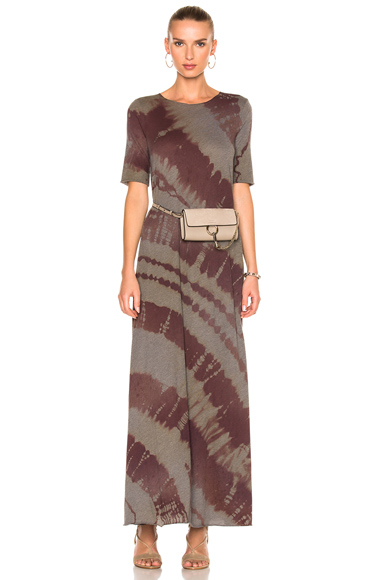 Raquel Allegra Drama Maxi Dress in Green, Ombre & Tie Dye, Red