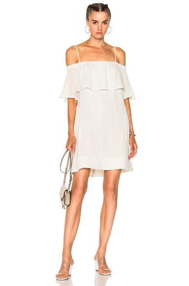 Raquel Allegra for FWRD Cotton Gauze Mini Dress in White