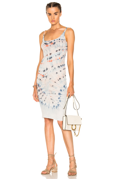 Raquel Allegra Layering Tank Dress in Blue, Ombre & Tie Dye, Pink, White