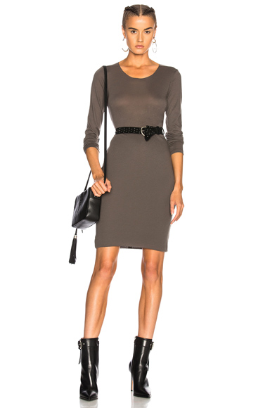 Raquel Allegra Long Sleeve Dress in Green