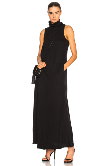 Raquel Allegra Sleeveless Turtleneck Dress in Black