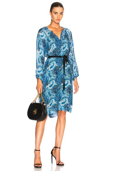 Raquel Allegra Windsor Dress in Abstract, Blue